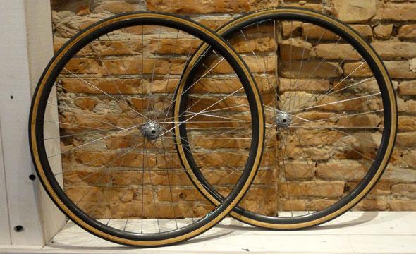 Paire roue piste Mavic/Wolber