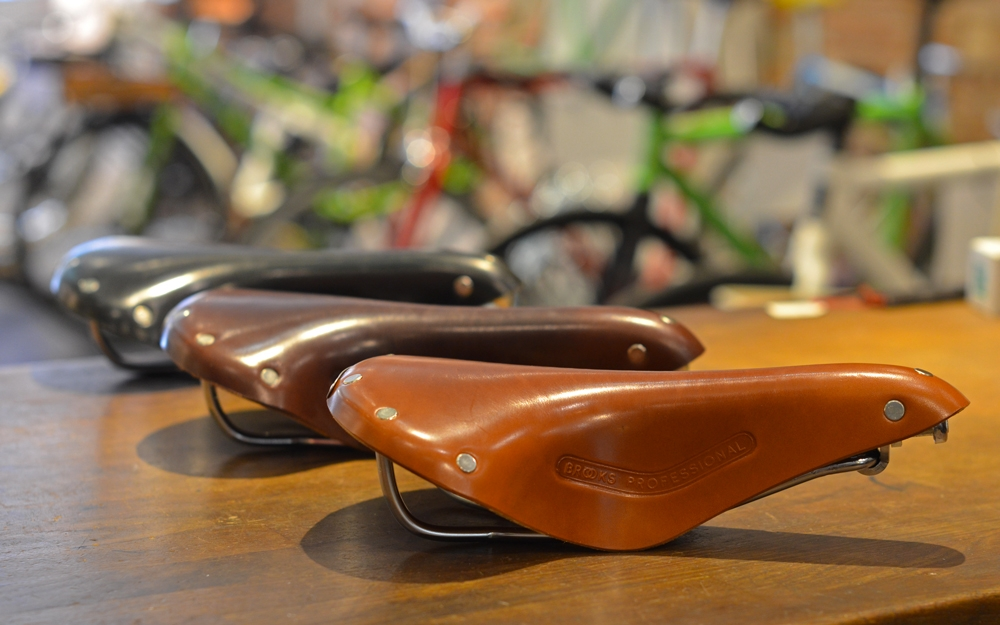 selle-brooks-pro-miel-marron-noir