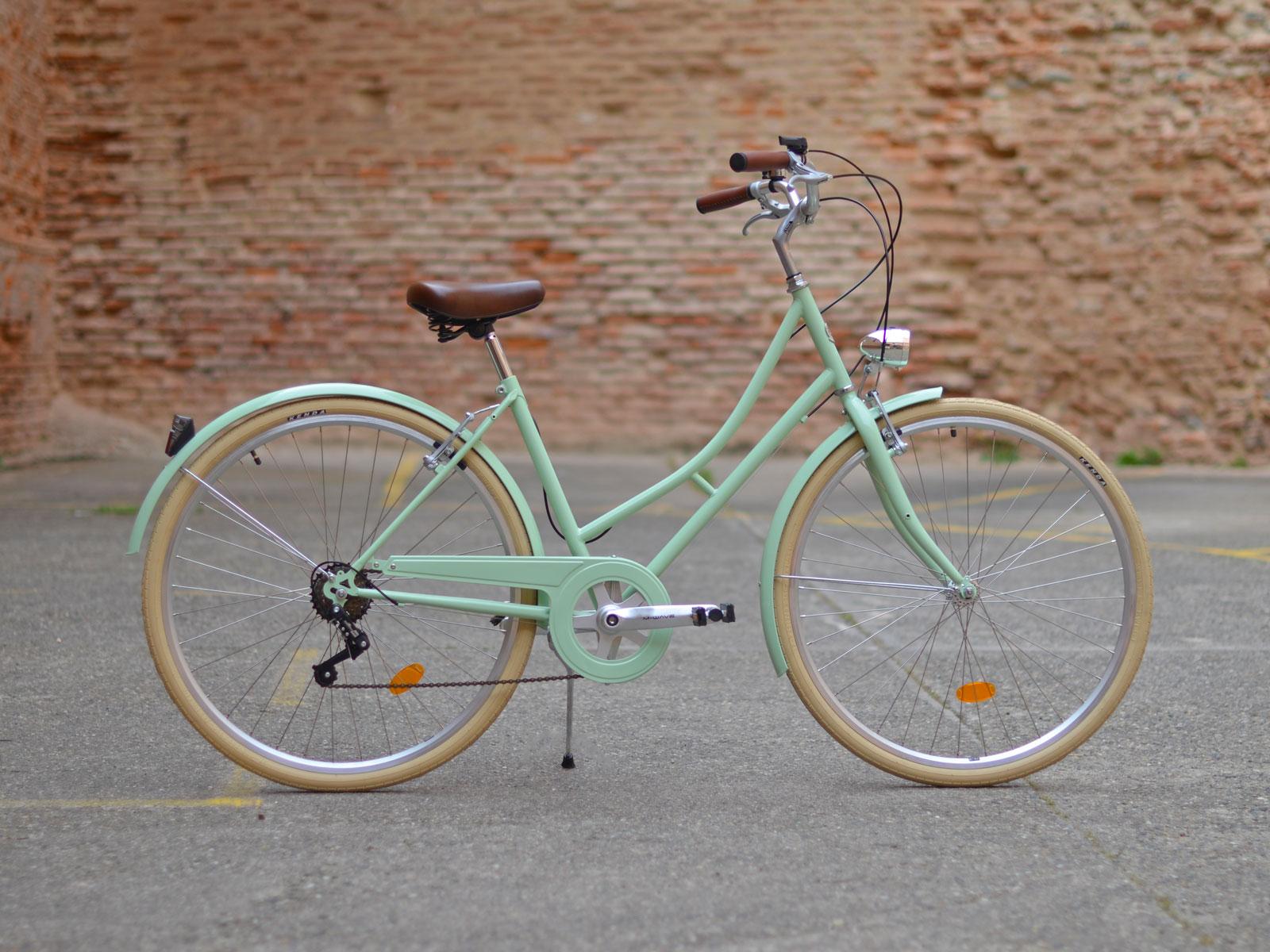 Velo Ville Vintage Vert Pastel